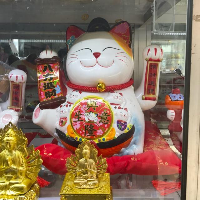 Mèo thần tài Phát Tài Phát Lộc 35cm