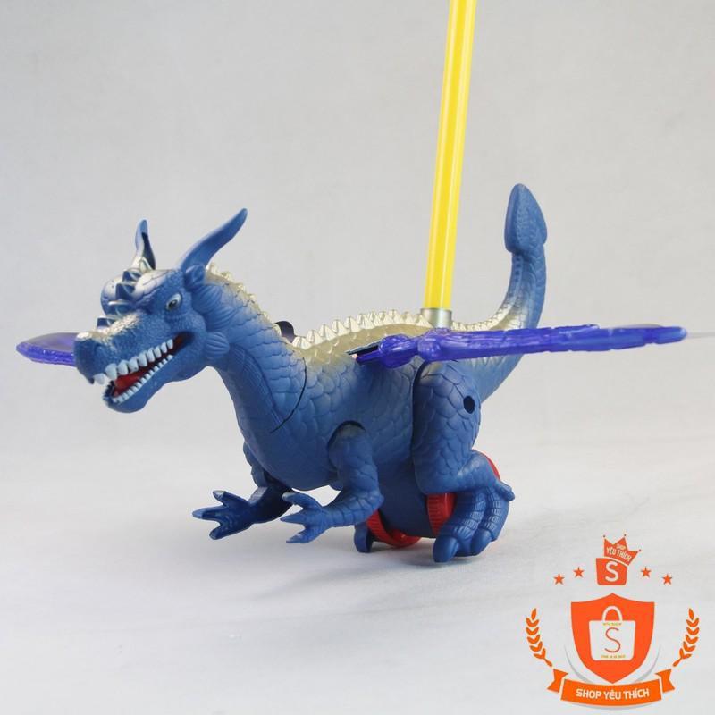 [SHIP THẦN TỐC] -  Đồ chơi  xe đẩy khủng long bạo chúa xanh