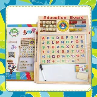 [GIÁ TỐT] Bảng gỗ nam châm giáo dục 2 mặt cho bé viết vẽ, học số, học chữ cái