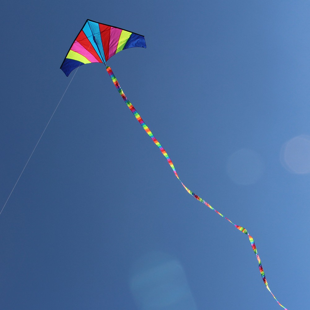 [CARE] 10 Meters Rainbow Bar Kite Tail for Delta Kite Stunt Kite Kite Accessory