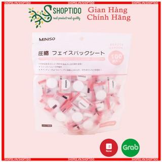 Combo 100 nạ nén vải không dệt tre tự nhiên Miniso