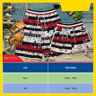 Quần đi biển BASIC đỏ cho cặp đôi nam nữ thumbnail