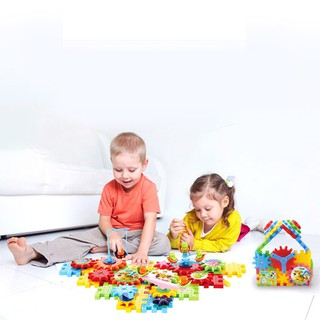 Children DIY Building Blocks Toys Puzzle Assembly Spell Insert Toy