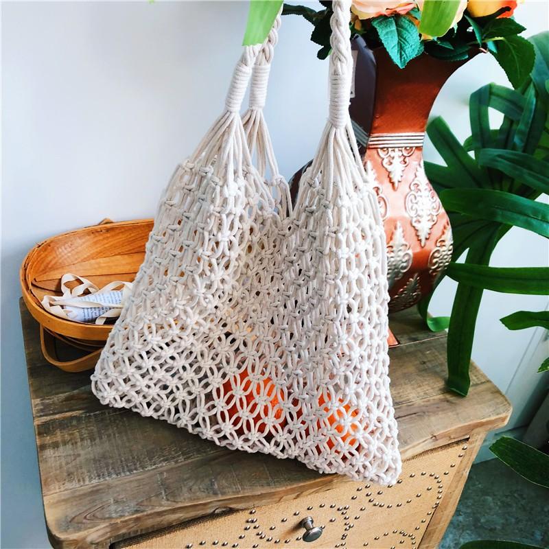 Woven big bag handbags new 2019 holiday tote bag large capac