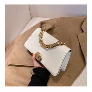 Túi xách nữ, túi đeo chéo da trơn khóa tròn thời trang Hàn Quốc siêu xinh TX28