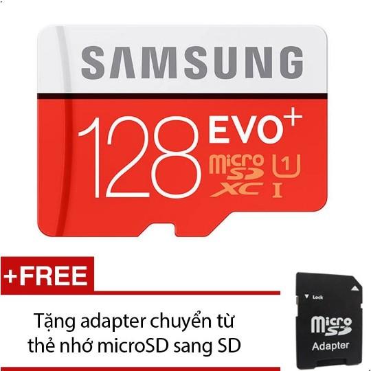 Thẻ nhớ Micro SD Samsung EVO Plus 128GB + Tặng 1 Adapter chuyển Micro SD sang SD - 10070098 , 701266782 , 322_701266782 , 1580000 , The-nho-Micro-SD-Samsung-EVO-Plus-128GB-Tang-1-Adapter-chuyen-Micro-SD-sang-SD-322_701266782 , shopee.vn , Thẻ nhớ Micro SD Samsung EVO Plus 128GB + Tặng 1 Adapter chuyển Micro SD sang SD