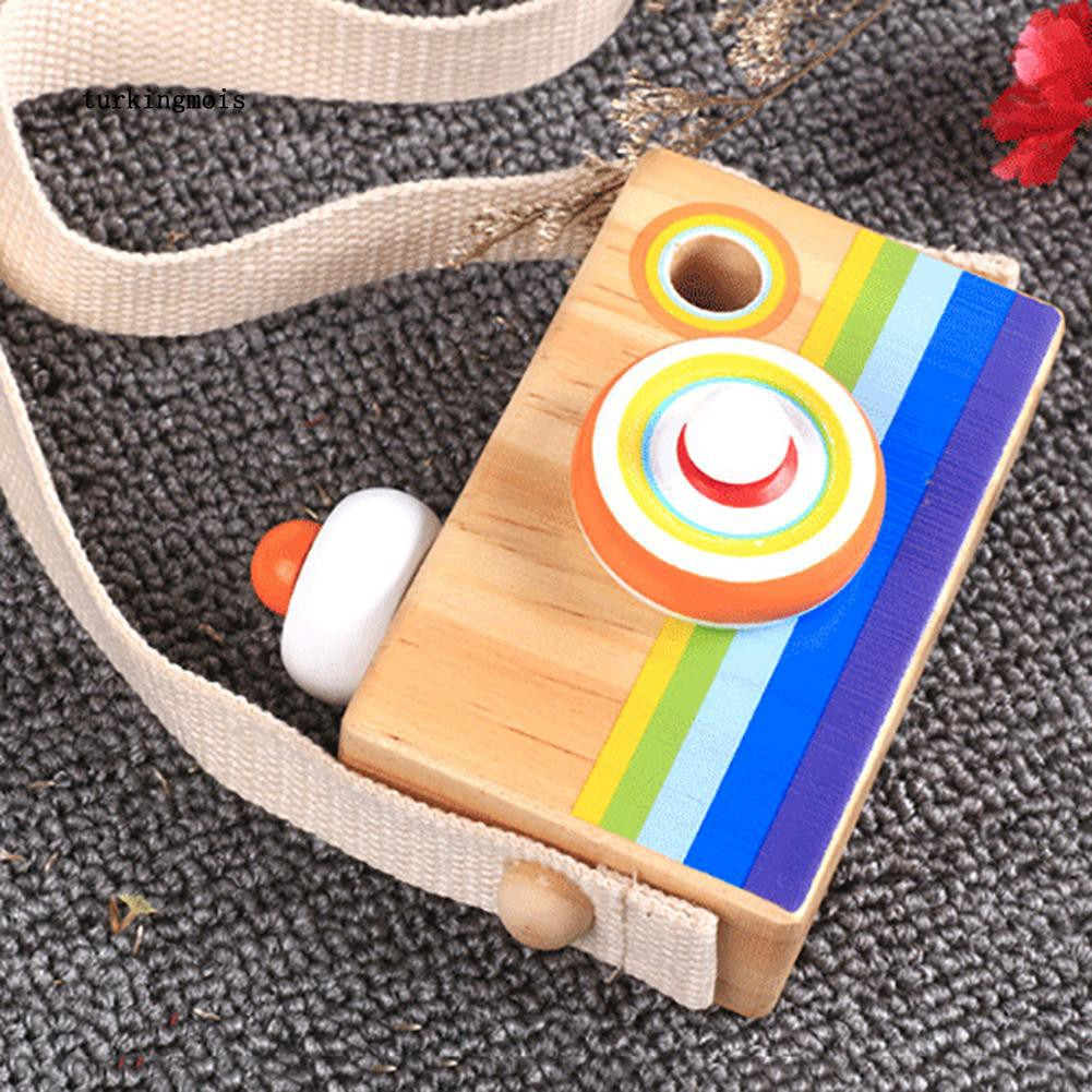 TK-Funny Wooden Hanging Camera Toy Mini Early Education Baby Kids Birthday Gift