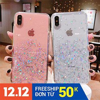 Ốp điện thoại silicon trang trí kim tuyến lấp lánh cho iphone 11 6/6s 7plus 6plus 7 8 X XS XR Xsmax 11pro 11pro max