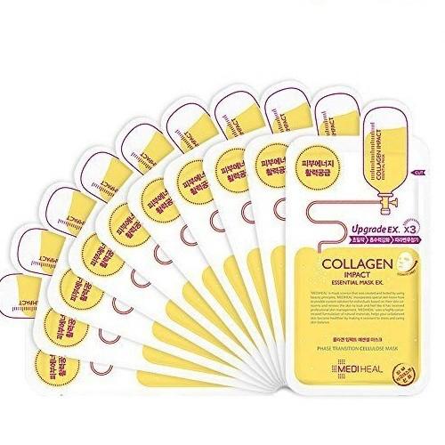 Bộ 10 gói Mặt nạ dưỡng ẩm ngăn ngừa lão hóa da Mediheal Collagen Impact Essential Mask 25ml x10