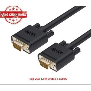 [Mã ELFLASH5 giảm 20K đơn 50K] Cáp VGA 1.5M Unitek Y-C503G Chính Hãng bh 12 tháng