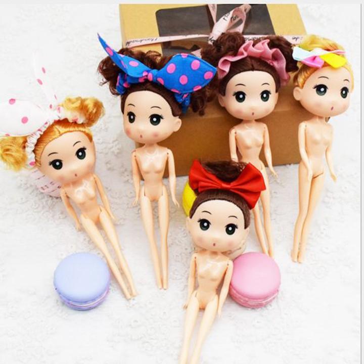 Túi 10 đồ chơi búp bê Chibi trang trí bánh kem -18Cm, búp bê trang trí bánh sinh nhật