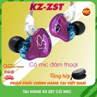Tai nghe kz zst,có mic chính hãng (Tặng hộp đựng ) thumbnail