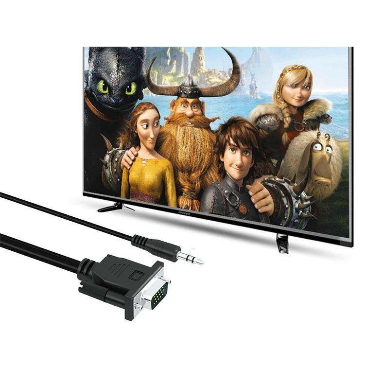 Cáp chuyển đổi VGA sang HDMI Có Audio - Hàng chất lượng - VGA TO HDMI