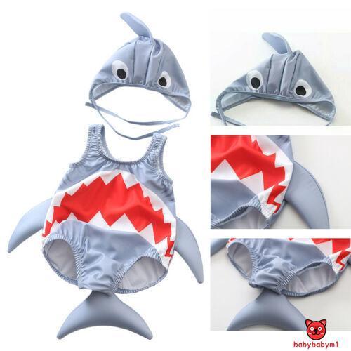 Set đồ bơi hình cá mập dễ thương cho bé