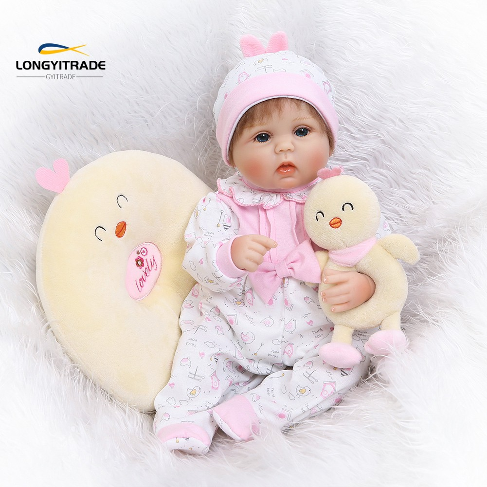 40cm Vinyl Silicone Yellow Chick Lifelike  Doll  Accompany Toy