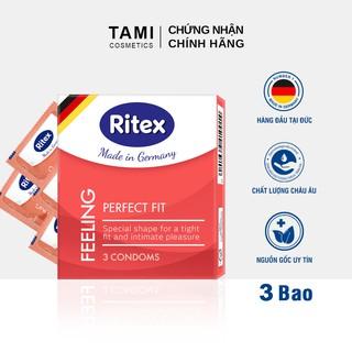 [Mã FMCG8 - 8% đơn 250K] Bao cao su Ritex FEELING - Ôm sát vừa vặn Hàng đầu tại Đức [Hộp 3 chiếc] Có che tên RI-FEELING3 thumbnail