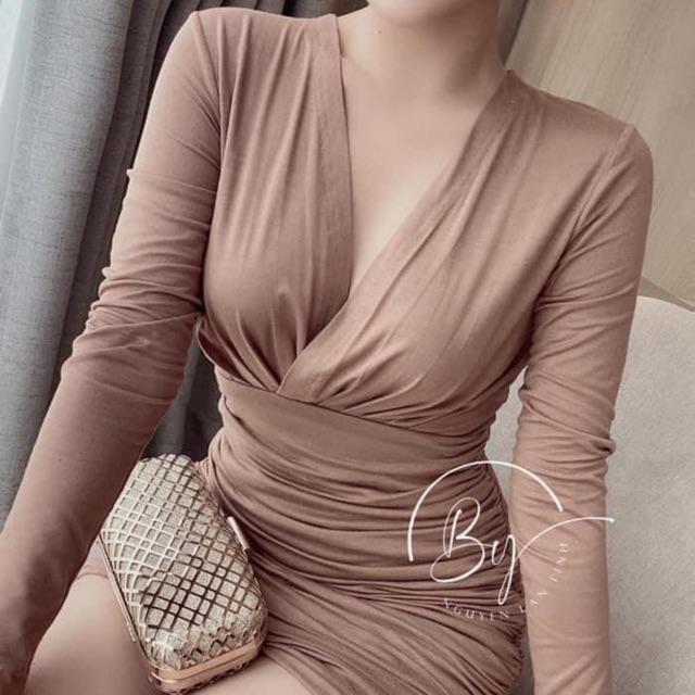 Váy body Zúm cổ v siêu hót (110k)