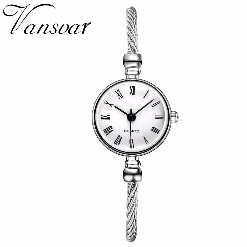 Đồng hồ quartz nữ dây thép không gỉ sang trọng
