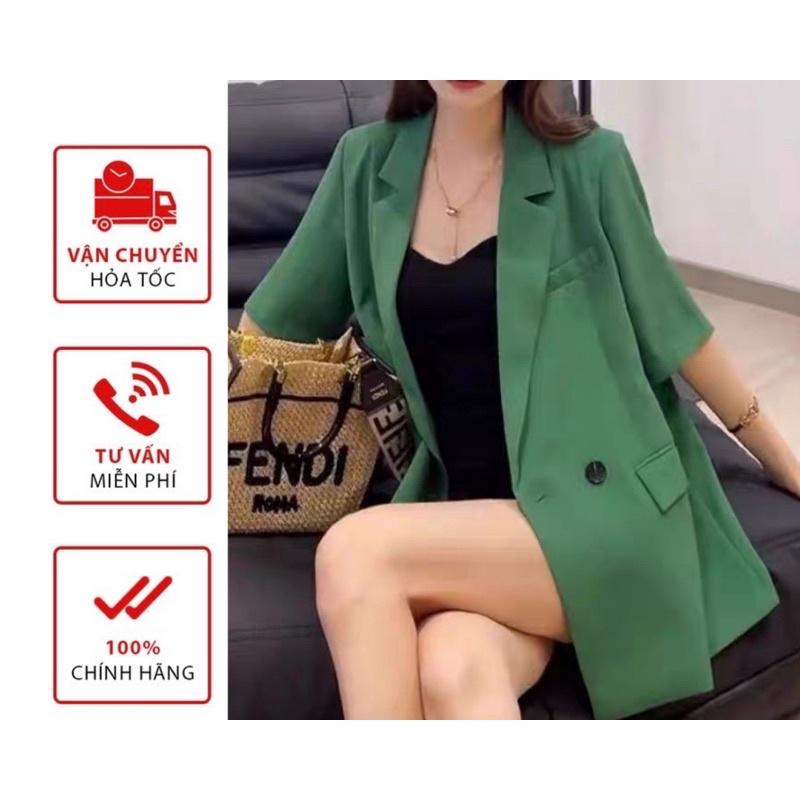 Áo VEST blazer nữ cộc tau dáng Freesize Phong Cách Hàn quốc 6 Màu