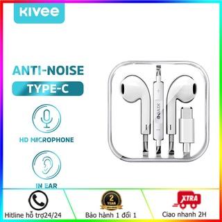 Tai nghe nhét trong Kivee MT30 Tai nghe cho iPhone Earpods Jack cắm Loại C Lightning 3.5MM Tương thích với thumbnail