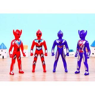 combo 4 siêu nhân, cao 10cm, đồ chơi siêu nhân, kiểu đẹp như hình lun