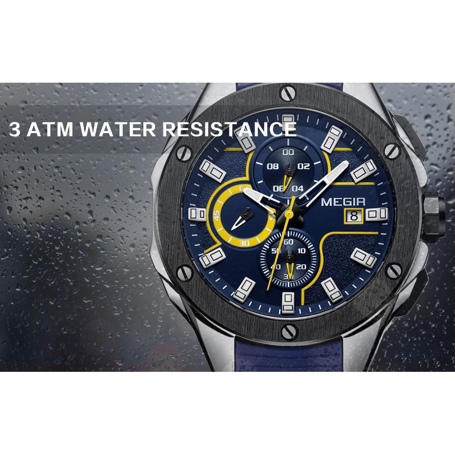 Đồng hồ đeo tay dây silicone thể thao dành cho nam