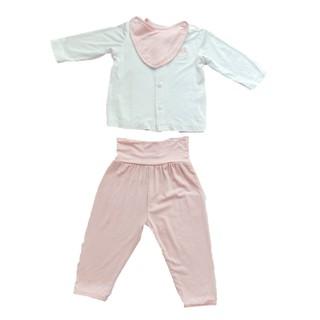 [Mã LILGRO20 giảm 15% đơn 99K] Bộ quần áo sơ sinh cài thẳng vải smoothy 0-6 tháng LITTLE LOVE