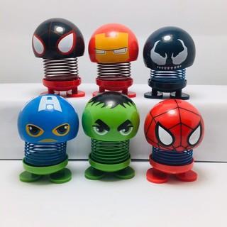 Combo 3 Emoji thú nhún lò xo siêu nhân anh hùng Marvel_giabuon