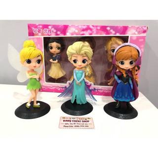 Bộ 3 búp bê mô hình công chúa Disney ELSA ANNA WINKLE BELL – Hàng nhập khẩu