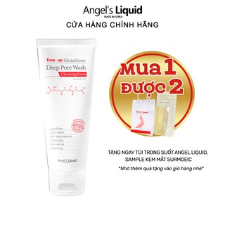 Sữa rửa mặt làm sạch, dưỡng trắng Angel Liquid Tone-up Glutathione Deep Pore Wash Cleansing Foam 120g thumbnail