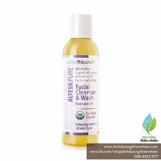 Sữa Rửa Mặt Hoa Oải Hương Hữu Cơ Alteya Organics Facial Cleanser & Wash, Pure Lavender, 150ml thumbnail