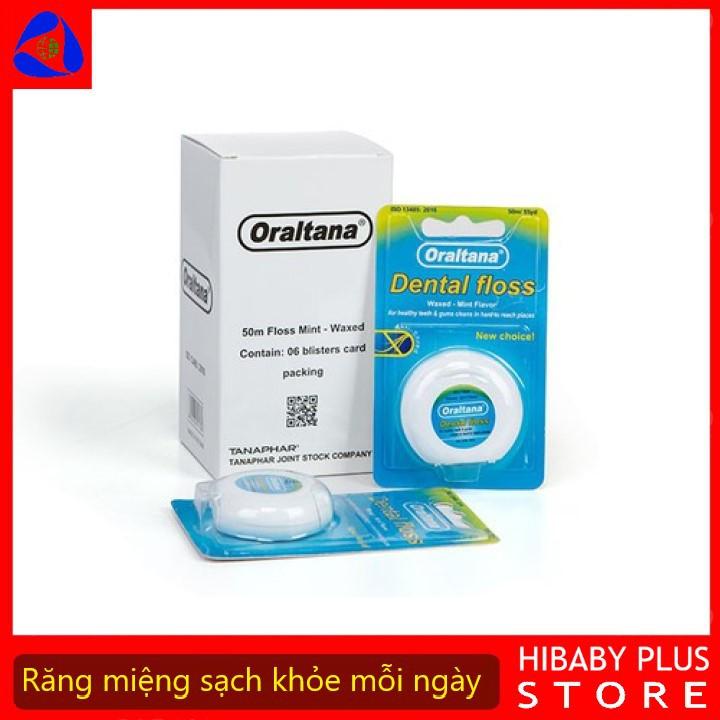 Chỉ nha khoa Nhật Oraltana tiệt trùng Dental floss made in Việt Nam vỉ 1 cuộn
