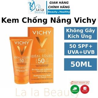 Kem chống nắng Vichy SPF50 cho da dầu mụn nhạy cảm hỗn hợp thiên dầu không đổ dầu vật lý, hóa học La La Cosmetic - KCN thumbnail