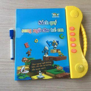 Sách nói Song ngữ Anh Việt bản chuẩn chính hãng cho bé