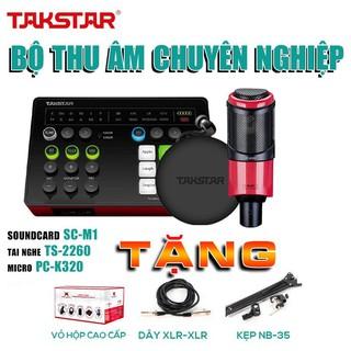 Combo mic thu âm, combo hát karaoke, combo mic hát livestream, sourdcard SC M1, micro PC K320 thumbnail