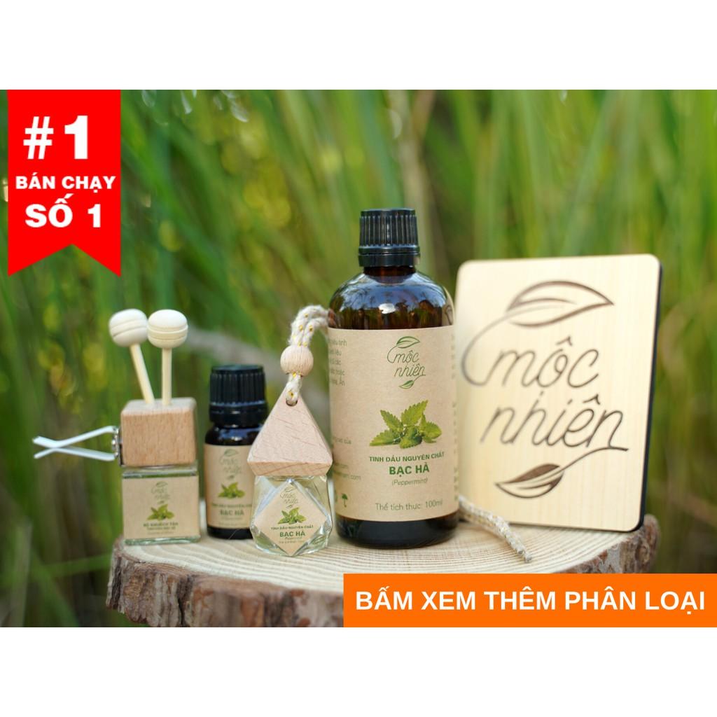 Tinh dầu Mộc Nhiên nguyên chất có kiểm định, tinh dầu sả chanh,bạc hà,treo xe...giúp thơm phòng,khử mùi, đuổi muỗi