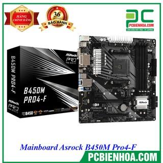 Yêu Thích[Mã ELCLXU8 hoàn 8% xu đơn 500k] Mainboard Asrock B450M Pro4-F
