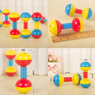 HEL❤ Plastic Baby Toys Hand Shake Bell Ring Rattles toys Baby Educational