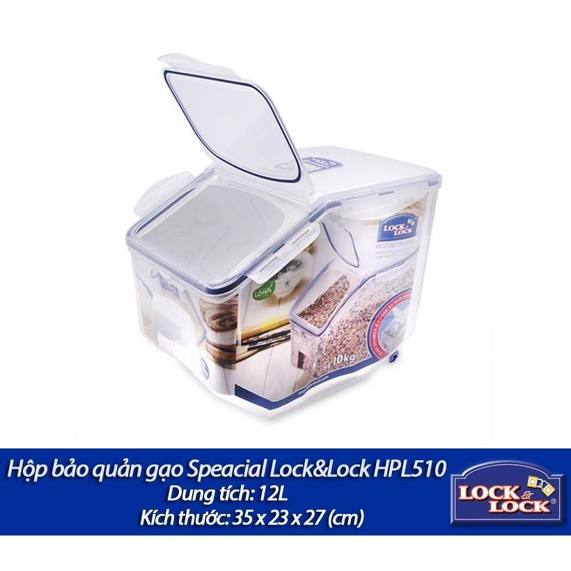 Hộp bảo quản gạo Special 12L Lock&Lock-HPL510