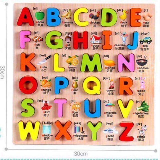 Bảng chữ cái bằng gỗ 3D dạy tiếng anh - 3111845 , 1218290026 , 322_1218290026 , 100000 , Bang-chu-cai-bang-go-3D-day-tieng-anh-322_1218290026 , shopee.vn , Bảng chữ cái bằng gỗ 3D dạy tiếng anh
