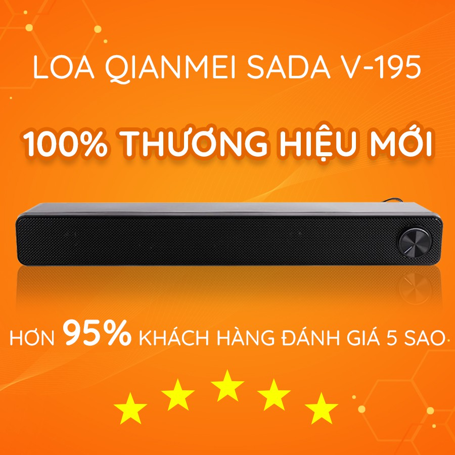 {HOT} Loa Máy Vi Tính, Tivi Soundbar SADA V-195 Âm Thanh Vòm 3D Stereo Âm Thanh Siêu Trầm Sống Động