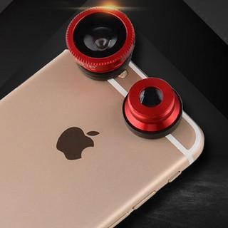 Ống kính fisheye góc rộng 3 trong 1 cho iPhone Samsung thumbnail