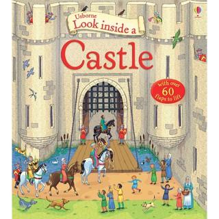 Sách lật mở Look Inside A Castle khám phá lâu đài Châu Âu Usborne thumbnail