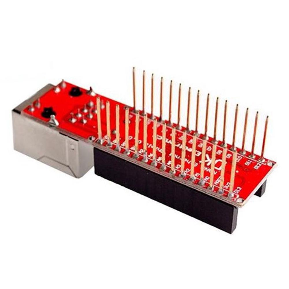 Computer Server Component No Soldering ENC28J60 Accessories Ethernet Shield Durable Web Network Module For Arduino