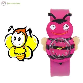 ☞ Phụ kiện trang sức☜ 1 Pcs Children Kids Wrist Quartz Watch Silicone Strap Cute Cartoon Style Fashion Birthday Gift