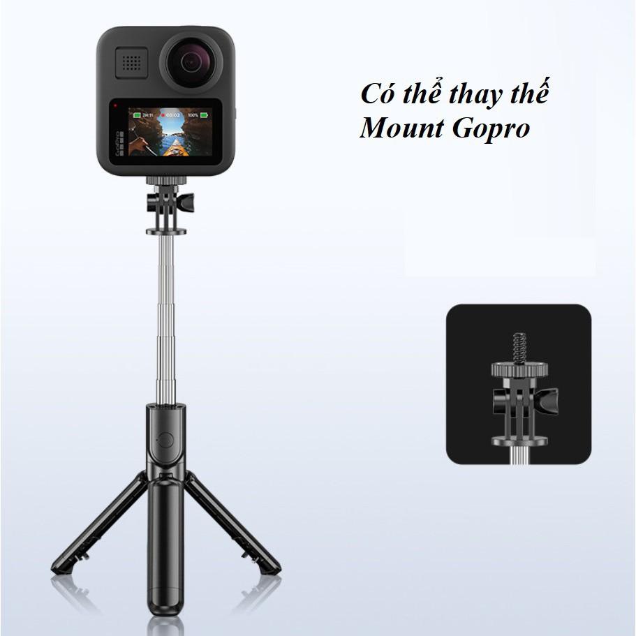Gậy chụp ảnh tự sướng tripod 3 chân Có Bluetooth Selfy livestream S03