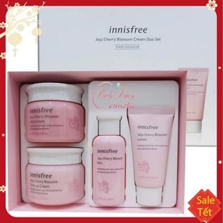 BỘ KEM DƯỠNG TRẮNG DA Bộ Dưỡng Ẩm, Trắng Da Chiết Xuất Lá Hoa Anh Đào Innisfree Jeju Cherry Blossom Cream Duo Set thumbnail