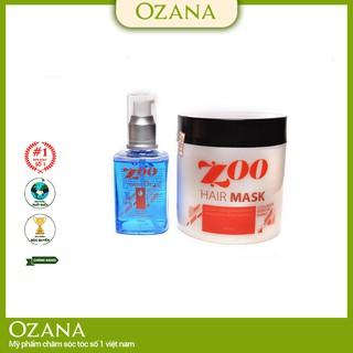 MÃ ZOO04 Bộ combo Kem Hấp - Ủ- Xả Phục Hồi Tóc Collagen, Tinh Dầu Dưỡng Tóc Dành cho tóc xoăn, tóc khô xơ chẻ ngọn