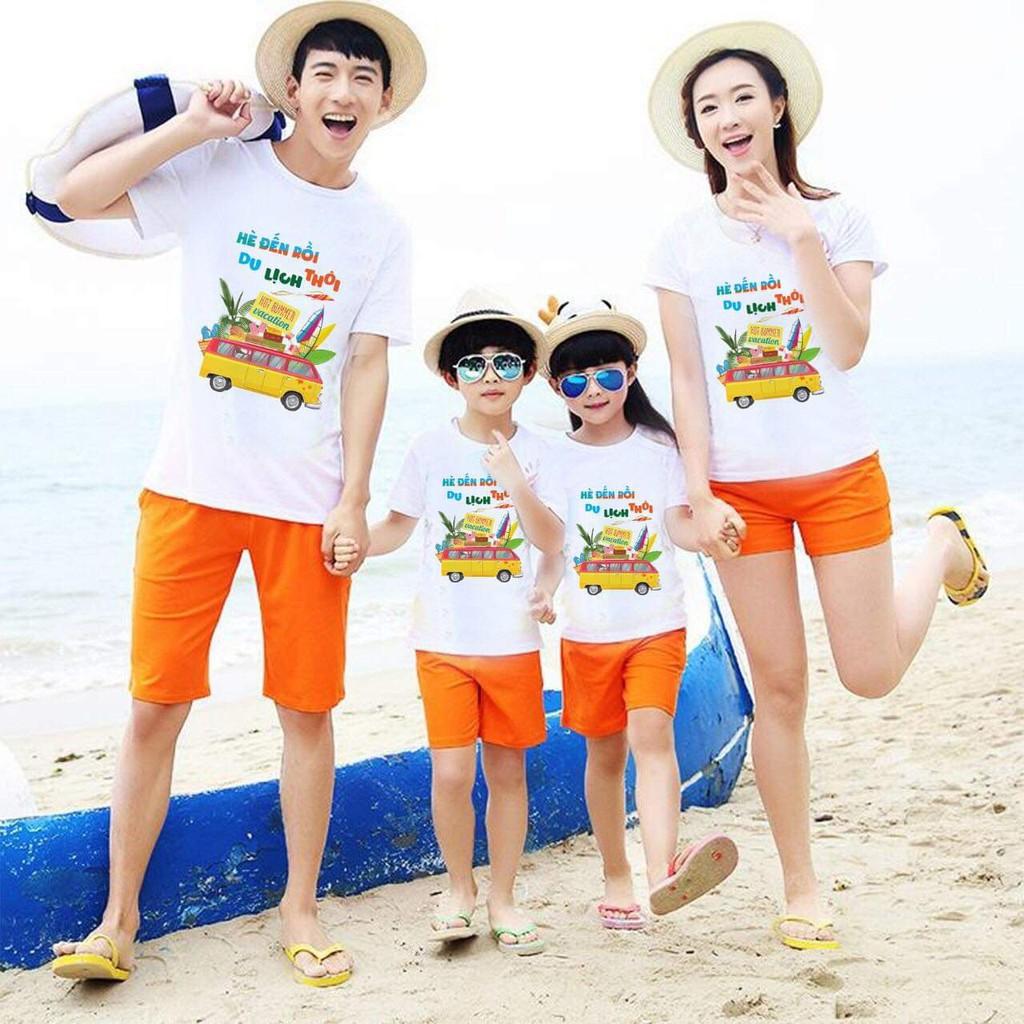 Đồng phục đi biển cty,bộ quần áo gia đình,nhóm, cặp đôi đi chơi, du lịch, đi biển