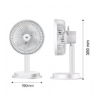 [Mã ELFLASH5 giảm 20K đơn 50K] Quạt sạc tích điện loại lớn 3 chế độ có đèn led DP-7627